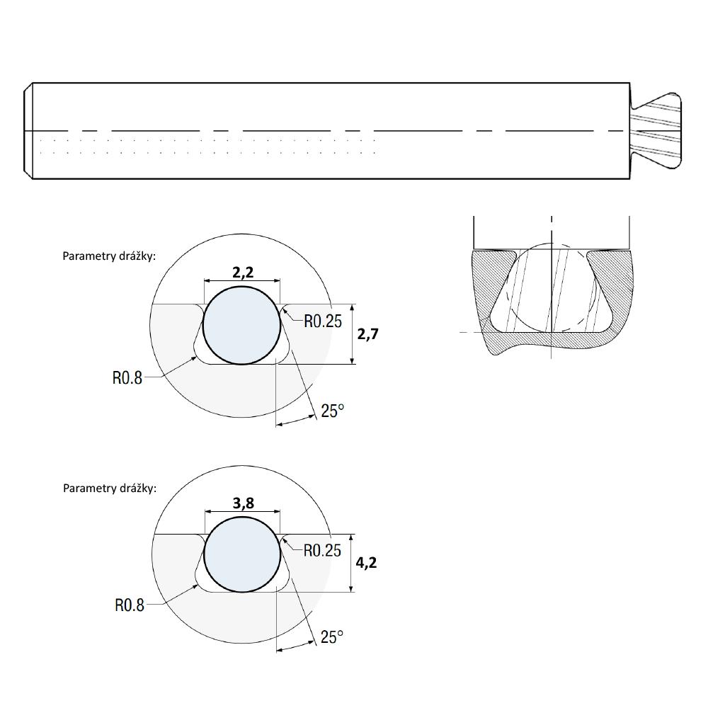 ST Fréza tvarová pro těsnění